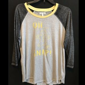 Maurices Tops - Maurices Burnwash Baseball Tee With Gingerbread